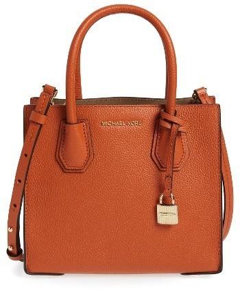 274fb580f4 ... MICHAEL Michael Kors Michl Michl Kors Mercer Leather Crossbody Bag ...