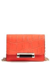 Diane von Furstenberg Micro Mini 440 Croc Embossed Leather Crossbody Bag