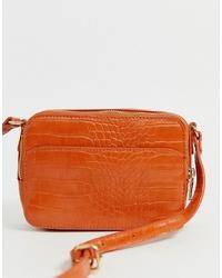 Pimkie Moc Croc Cross Body Bag In Orange