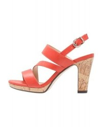Stacey platform sandals orange medium 4277996