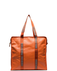Heron Preston Orange Oversized Plastic Tote