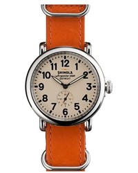 Orange Leather Watch