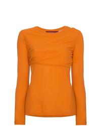 Carlucci long sleeve cotton jersey top medium 7665949