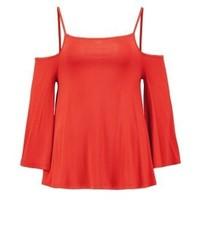 Long sleeved top orange medium 3894407