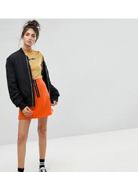 Reclaimed Vintage Inspired Contrast Zip Mini Skirt