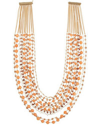 Rosantica Prato Fiorito Gold Dipped Sunstone And Agate Necklace