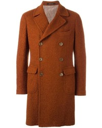 Tagliatore Textured Double Breasted Coat