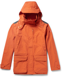 Cotton Canvas Hooded Jacket