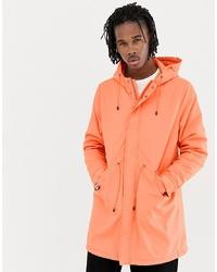 ASOS DESIGN Parka Jacket In Bright Orange