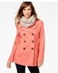 Orange Pea Coat