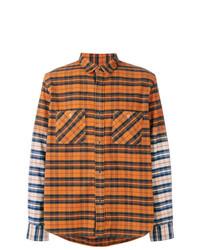 Sacai Two Tone Checked Shirt