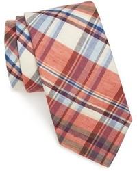 Orange Plaid Tie