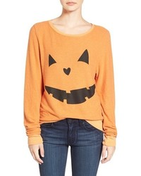Wildfox Couture Wildfox Baggy Beach Jumper Pumpkin Love Pullover
