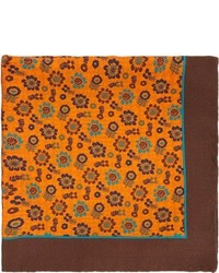 Orange Print Pocket Square