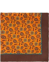 Orange Print Pocket Square