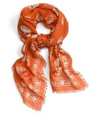 Orange Print Scarf
