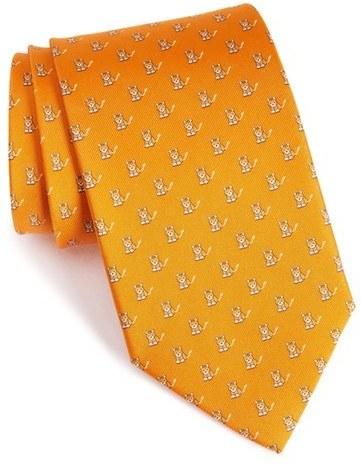 Salvatore Ferragamo Cat Print Tie