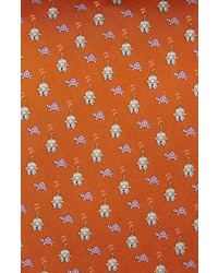 Salvatore Ferragamo Dog Turtle Print Silk Tie