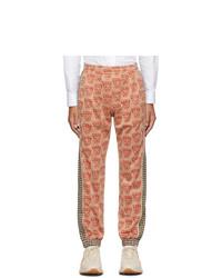 Orange Print Sweatpants