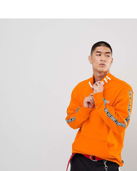 Vans Half Zip Tape Sweatshirt In Orange To Asos