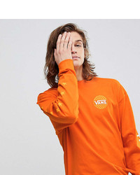 Vans Oversized Long Sleeve T Shirt In Orange To Asos