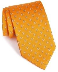 Orange Print Tie