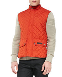 Orange Quilted Gilet