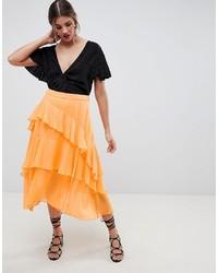 ASOS DESIGN Floaty Midi Skirt