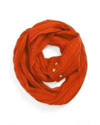 MICHAEL Michael Kors Michl Michl Kors Buttoned Infinity Scarf Orange Spice One Size One Size