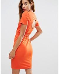 Asos Collection Crepe Open Back Pencil Dress