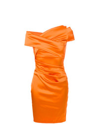 Talbot Runhof Ruched Fitted Dress