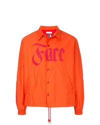Orange Shirt Jacket