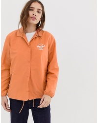 Herschel Supply Co. Herschel Voyage Packable Coach Jacket Back In Carnelian