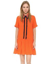 Embroidered shirt dress medium 381745