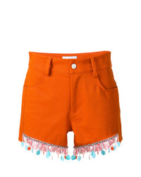 Au Jour Le Jour Beaded Trim Shorts