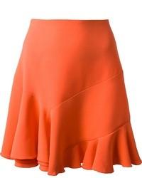 Orange Silk Full Skirt