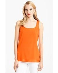 Orange Silk Tank