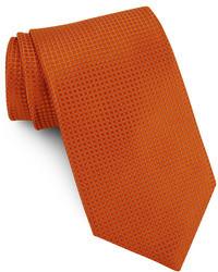 Orange Silk Tie