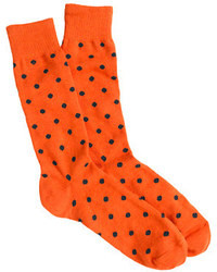 J.Crew Medium Dot Cotton Socks