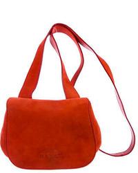 Orange Suede Crossbody Bag