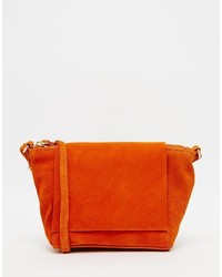 Festival suede cross body bag with square flap medium 776448