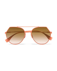 Fendi Aviator Style Metal Sunglasses