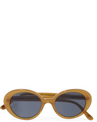 Oliver Peoples The Row Parquet Cat Eye Acetate Sunglasses Orange