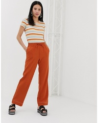 Monki Wide Leg Joggers In Rust
