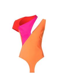 Mugler Colour Block Playsuit