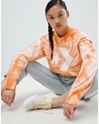 Converse Sweatshirt In Orange Tie Dye