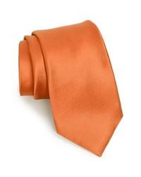 Nordstrom Woven Silk Tie Light Orange X Long X Long