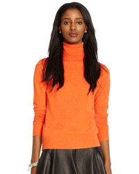 Orange Turtleneck
