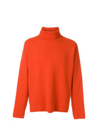 AMI Alexandre Mattiussi Turtleneck Oversize Fit Double Face Rib Sweater