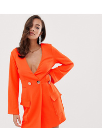 ASOS DESIGN Fluoro Tux Dress With Button Detail